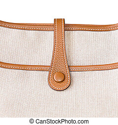 Canvas bag - Close-up canvas bag isolated on white...