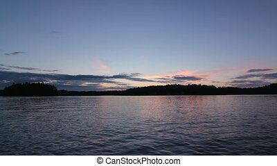 Dusk to Night at the lake. Tlapse. - Dusk with timelapse...