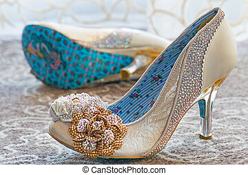 Lady Shoes beautifully decorated