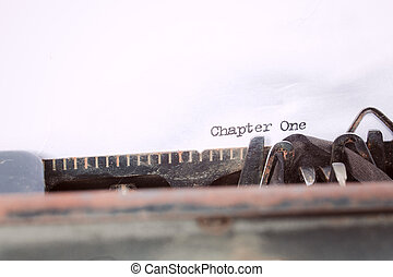 """chapter one"" written on a typewriter"