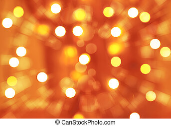 Abstract festive background, orange blurry backdrop, many...
