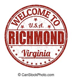 Welcome to Richmond stamp - Welcome to Richmond grunge...