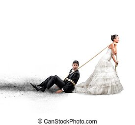 Trapped by marriage - Funny concept of bound and trapped by...