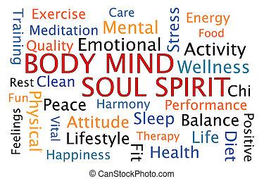 cuerpo, mente, alma, espíritu,