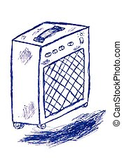 Doodle Power Amplifier, isolated on white