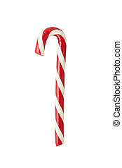Candycane isolated - Hand made candycane isolated on white