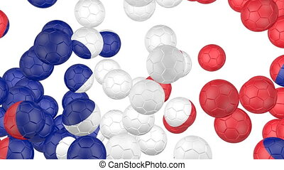 France flag of soccer balls