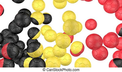 Belgium flag of soccer balls - Soccer balls is falling down...