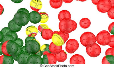 Portugal flag of soccer balls