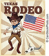 Rodeo poster - Old style themed rodeo poster