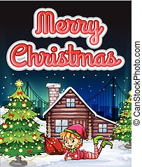Merry Christmas card - Merry Christmas theme card...