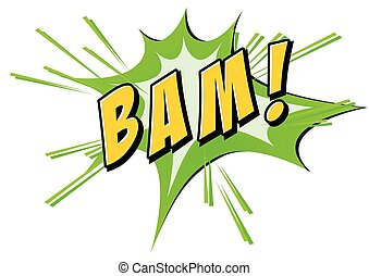Bam flash on white - Bam on green and white