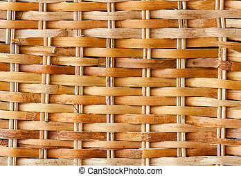 Seamless Wicker Background - A light colored seamless wicker...