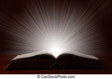 Old Book With Bright Light - Old book with bright magic...