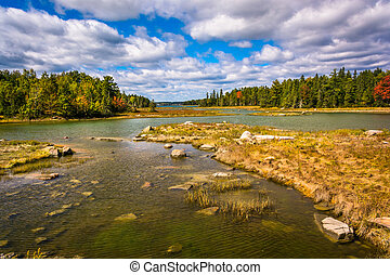 Northeast Creek, on Mount Desert Island in Bar Harbor,...