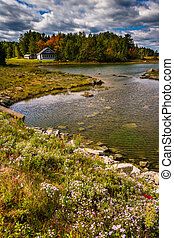 Northeast Creek, on Mount Desert Island in Bar Harbor, Maine...