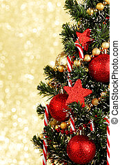 Christmas tree - Beautiful decorated christmas tree on...