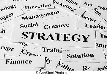 Strategy And Other Related Words - Strategy concept with...