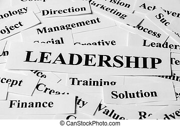 Leadership And Other Related Words - Leadership concept with...