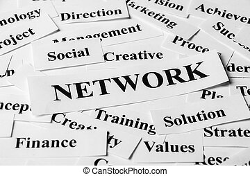 Network And Other Related Words - Network concept with some...