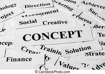 Business Concept And Other Related Words