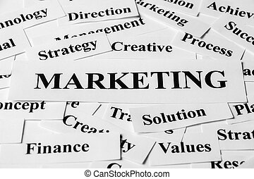 Marketing And Other Related Words - Marketing concept with...