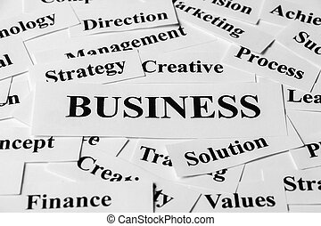 Business and other related words - Business concept with...