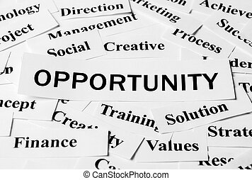 Business Opportunity - Opportunity concept with some related...