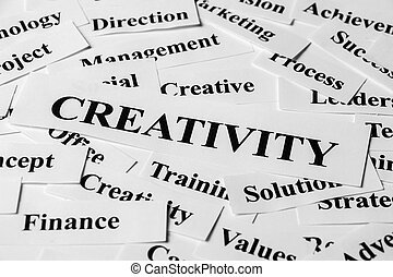 Creativity And Other Related Words - Creativity concept with...