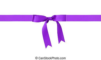 traditional purple ribbon bow border