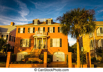 House and palm tree along Murray Drive in Charleston, South...