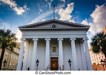Hibernian, vestíbulo, en, Charleston, sur, Carolina.,...