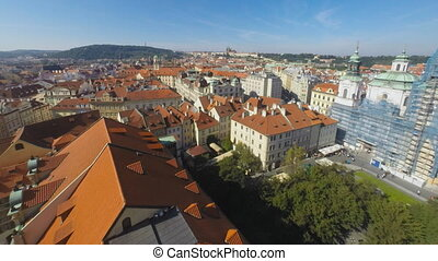 Town square in Prague - Time lapse of old town square in...