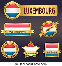 Luxembourg - Vector illustration of Luxembourg european...