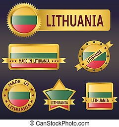 Lithuania - Vector illustration of Lithuania european...