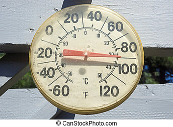 Old outdoor thermometer