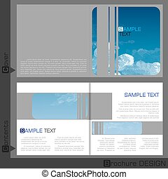 Brochure Template Design.  Vector Illustration. Eps 10