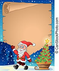 Christmas topic parchment 1