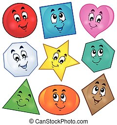 Various shapes theme image 1 - eps10 vector illustration.