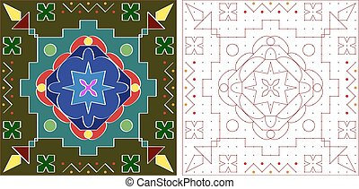 Rangoli Ornamental Design Vector Art