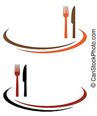 restaurant background with cutlery and place for text