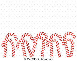 Candy Canes - Background with candy canes, vector eps10...