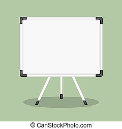 Whiteboard - Blank whiteboard, flat design, vector eps10...