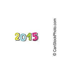 New Year 2015 hand drawn vector
