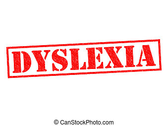 DYSLEXIA red Rubber Stamp over a white background.
