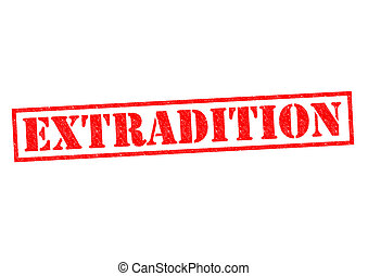 EXTRADITION red Rubber Stamp over a white background