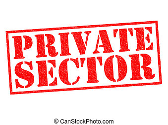 PRIVATE SECTOR red Rubber Stamp over a white background