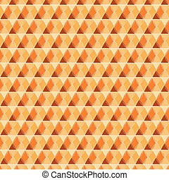 Beautiful seamless hexagon with line wave pattern