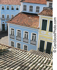 View of Pelourinho Salvador da Bahia Brazil Vertical