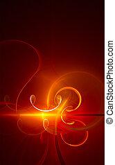 Fiery absract background - fractal - Fiery abstract...